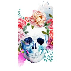 Skull And Flowers Iphone 11 Black Uv Print Case by goljakoff