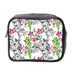 Flowers Mini Toiletries Bag (two Sides) by goljakoff