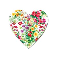 Summer Flowers Heart Magnet by goljakoff