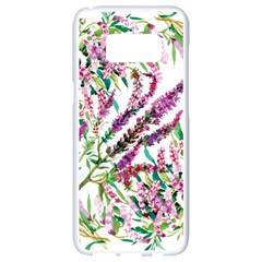 Flowers Samsung Galaxy S8 White Seamless Case by goljakoff