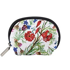 Summer Flowers Accessory Pouch (small) by goljakoff