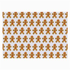 Gingerbread Men Large Glasses Cloth (2 Sides) by Mariart