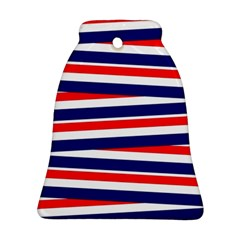Patriotic Ribbons Bell Ornament (two Sides)