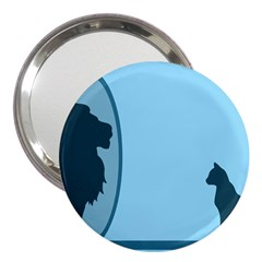 Cat Mirror Lion 3  Handbag Mirrors