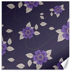 Purple Flowers Canvas 16  X 16