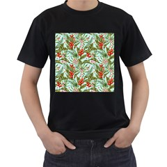 Tropical Flowers Men s T-shirt (black) by goljakoff