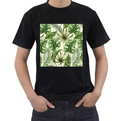 Green Leaves Men s T-shirt (black) by goljakoff