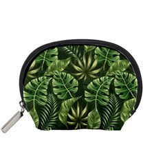 Green Leaves Accessory Pouch (small) by goljakoff
