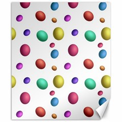 Egg Easter Texture Colorful Canvas 8  X 10  by HermanTelo