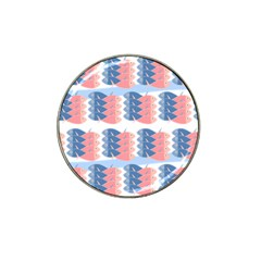 Fish Texture Rosa Blue Sea Hat Clip Ball Marker (4 Pack)