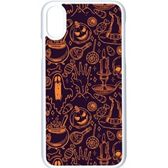 Halloween Pattern 5 Iphone Xs Seamless Case (white)