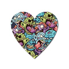 Halloween Love Heart Magnet by designsbymallika