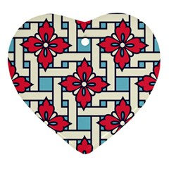 Diwali Pattern Ornament (heart)