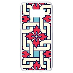 Diwali Pattern Samsung Galaxy S8 White Seamless Case