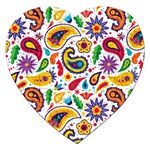 Baatik Print Jigsaw Puzzle (Heart) Front