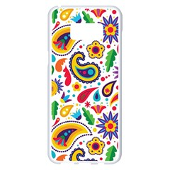 Baatik Print Samsung Galaxy S8 Plus White Seamless Case