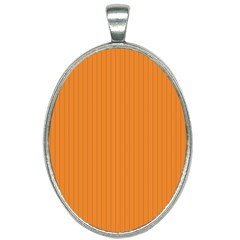 Cadmium Orange - Oval Necklace