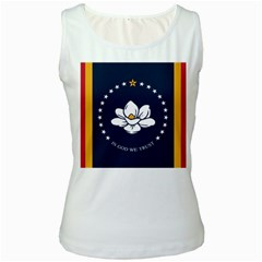 Flag Of Mississippi Women s White Tank Top
