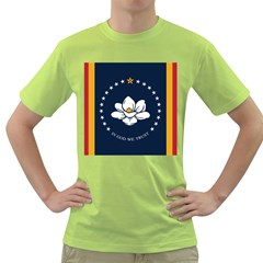 Flag Of Mississippi Green T-shirt