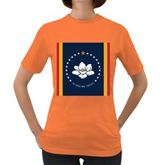 Flag Of Mississippi Women s Dark T-shirt