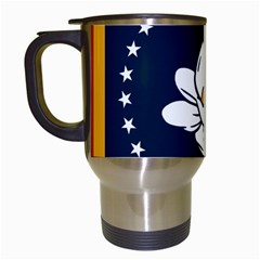 Flag Of Mississippi Travel Mugs (white)