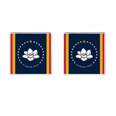 Flag Of Mississippi Cufflinks (square)