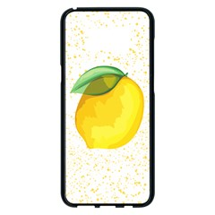 Illustration Sgraphic Lime Orange Samsung Galaxy S8 Plus Black Seamless Case