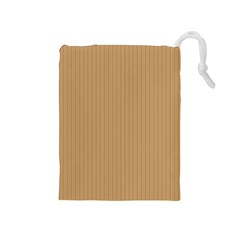 Pale Brown - Drawstring Pouch (medium)