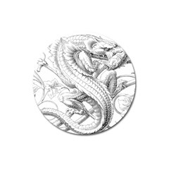 Dragon Lizard Vector Monster Magnet 3  (round)