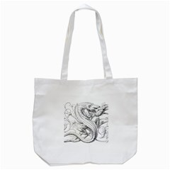 Dragon Lizard Vector Monster Tote Bag (white)