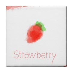 Strawbery Fruit Watercolor Painted Face Towel