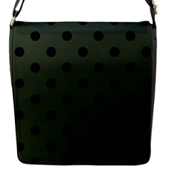 Large Black Polka Dots On Kombu Green - Flap Closure Messenger Bag (s)