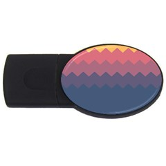 Fall Palette Usb Flash Drive Oval (2 Gb)