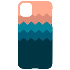 Flat Ocean Palette Iphone 11 Black Uv Print Case by goljakoff