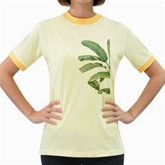 Palm Leaves Women s Fitted Ringer T-shirt by goljakoff