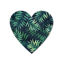 Green Leaves Heart Magnet by goljakoff