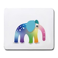 Illustrations Elephant Colorful Pachyderm Large Mousepads