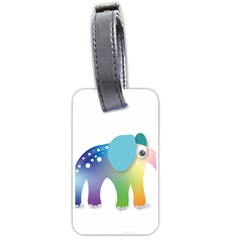 Illustrations Elephant Colorful Pachyderm Luggage Tag (two Sides)