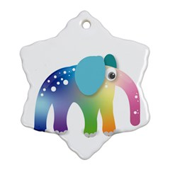 Illustrations Elephant Colorful Pachyderm Snowflake Ornament (two Sides)