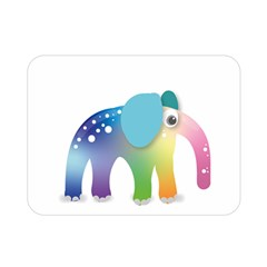 Illustrations Elephant Colorful Pachyderm Double Sided Flano Blanket (mini)
