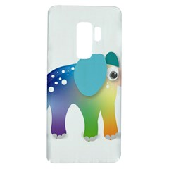 Illustrations Elephant Colorful Pachyderm Samsung Galaxy S9 Plus Tpu Uv Case