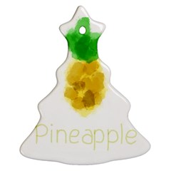 Pineapple Fruit Watercolor Painted Ornament (christmas Tree)