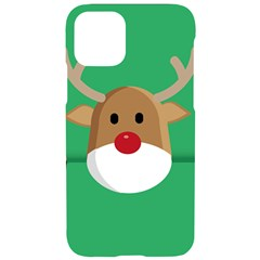 Reindeer Christmas Iphone 11 Pro Black Uv Print Case by AnjaniArt