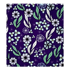 Floral Blue Pattern  Shower Curtain 66  X 72  (large)
