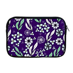 Floral Blue Pattern  Apple Macbook Pro 17  Zipper Case