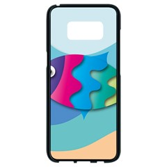 Illustrations Fish Sea Summer Colorful Rainbow Samsung Galaxy S8 Black Seamless Case