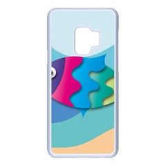 Illustrations Fish Sea Summer Colorful Rainbow Samsung Galaxy S9 Seamless Case(white)