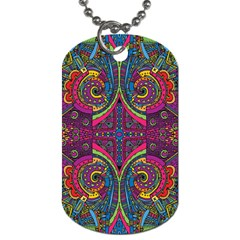 Colorful Boho Pattern Dog Tag (two Sides)