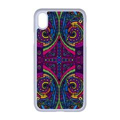 Colorful Boho Pattern Iphone Xr Seamless Case (white) by designsbymallika