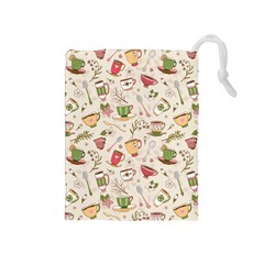 Green Tea Love Drawstring Pouch (medium)